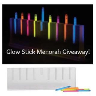 Glow Stick Menorah Giveaway!