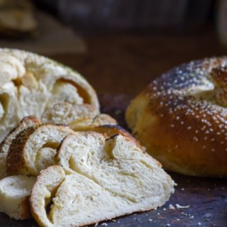 Cheesy Garlic Bread Challah