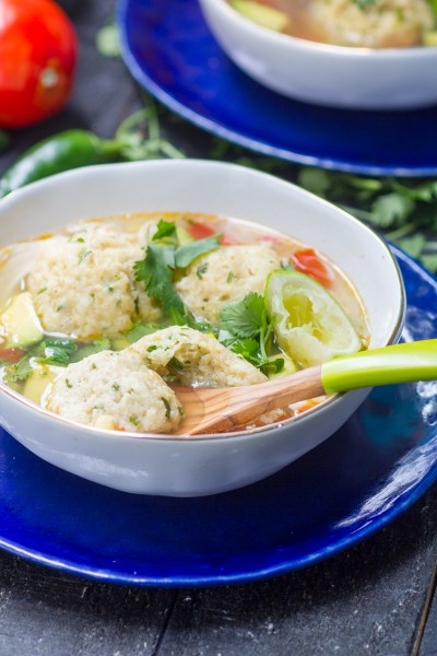 Chicken, Lime and Avocado Matzah Ball Soup - What Jew Wanna Eat
