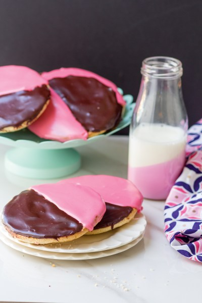 Black and Pink Cookies