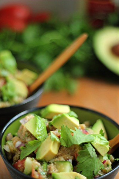 Avocado Amaranth Israeli Salad