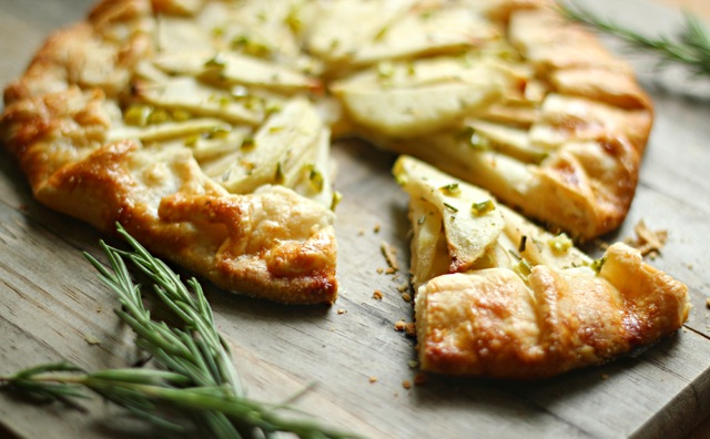 Green Chili Apple & Honey Galette