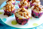 Apple Cupcakes with Cinnamon Cream Cheese Frosting and Honey Caramel