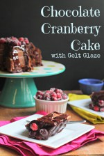 Chocolate Cranberry Cake with Gelt Glaze (Thanksgivukkah Potluck!)