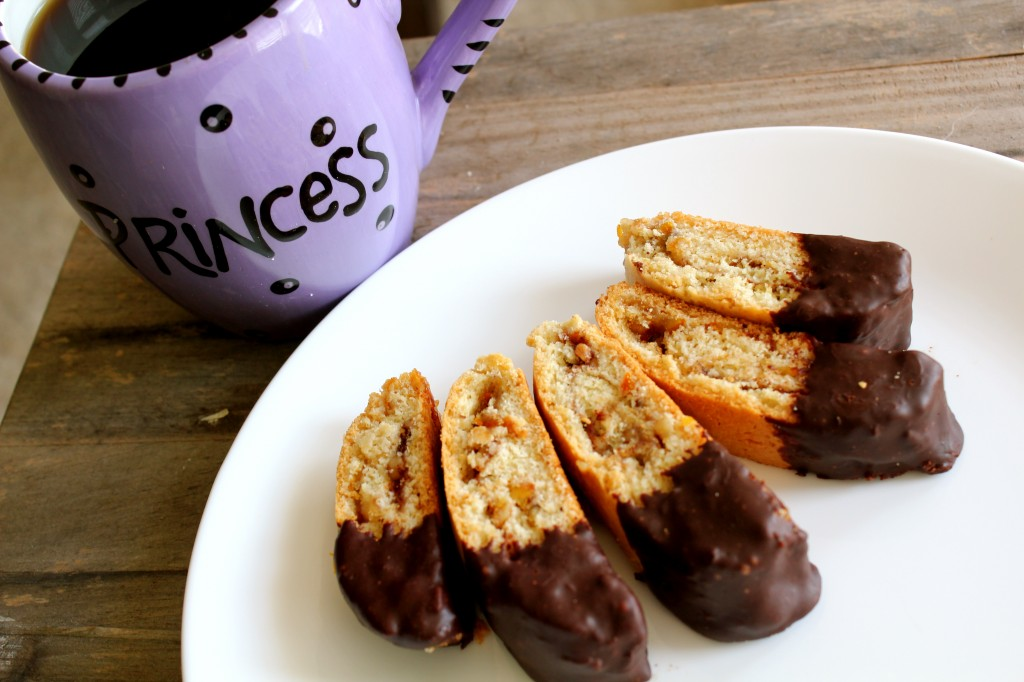Dark Chocolate Mandel Bread
