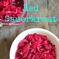 Homemade Red Sauerkraut