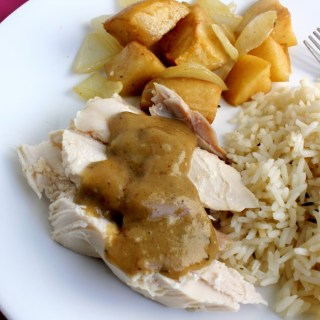Honey Mustard Roasted Chicken with Apples