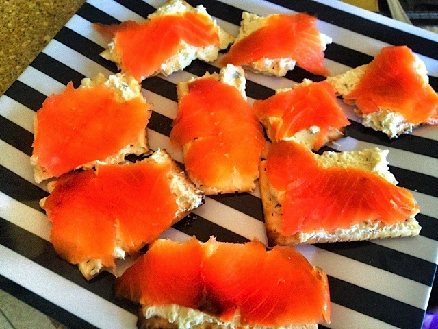 Lox and Schmear on Matzah