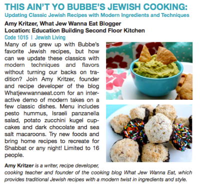 Jewish cooking classes