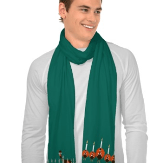 Turkey Menorah Thanksgivukkah Scarf {Giveaway!}