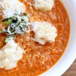 Roasted Tomato Basil Soup with Parmesan Spatzle (Giveaway Post!!!)