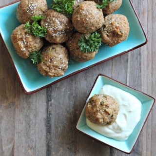 Deep Fried Matzo (Matzah) Balls with Wasabi Cream Sauce