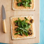 Roasted Red Pepper and Arugula Flatbread Matzo Pizza and Cranberry Quinoa Stuffed Zucchini