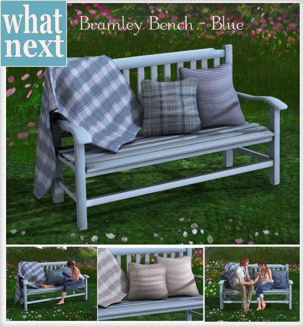 {what next} Bramley Bench - Blue Marketplace