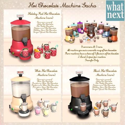 {what next} Hot Chocolate Machine Gacha Poster_800