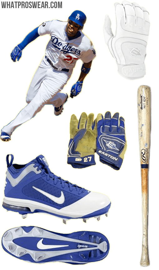matt kemp bat, Matt Kemp batting gloves, matt kemp cleats, easton batting gloves
