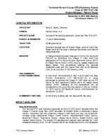 Village H (Spring Hill) Technical Review Group Summary Report