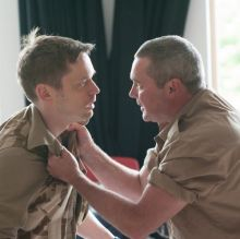 Finlay Robertson and Alex Ferns in rehearsals for Casualties at Park Theatre
