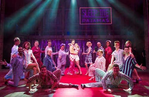 The Pajama Game cast. Photo by Tristram Kenton.