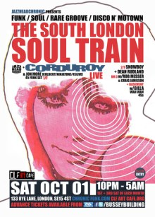 The South London Soul Train with JHC, Corduroy [Live] – More on 4 Floors
