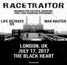 Racetraitor (USA) plus guests at The Black Heart, London
