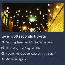Love in 60  Seconds Speed Dating