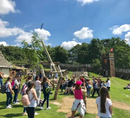 Medieval Catapult Launching