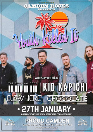 Camden Rocks presents Youth Killed It and more at Proud Camden