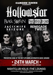 Camden Rocks presents Hollowstar and more at The Lounge