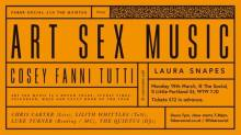 Faber Social and The Quietus Presents Art Sex Music with Cosey Fanni Tutti