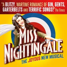 The logo for Miss Nightingale the joyous British musical