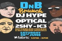DnB Brunch at Fabric w/ DJ Hype, Optical, 2Shy and IC3