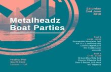 Metalheadz Boat Parties at Festival Pier w/ Grooverider, Ant TC1, Commix