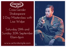 Cross-Gender Shakespeare – 2 Day Masterclass with Lisa Wolpe