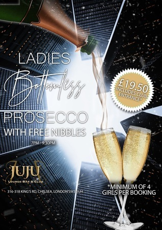 Ladies Bottomless Prosecco and Nibbles