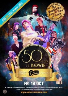 Absolute Bowie: 50 Years Of Bowie Live at Half Moon Putney London 19 Oct