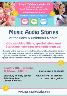 Music Audio Stories at the Baby & Children's Market UK