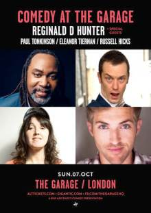 Comedy at The Garage Sunday 7th October