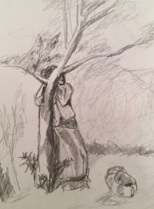 Life drawing classes in Morden Hall Park