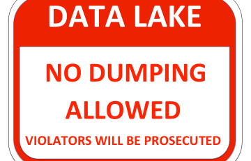 Data Lake NO DUMPING Sign