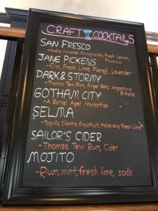 craft cocktail menu