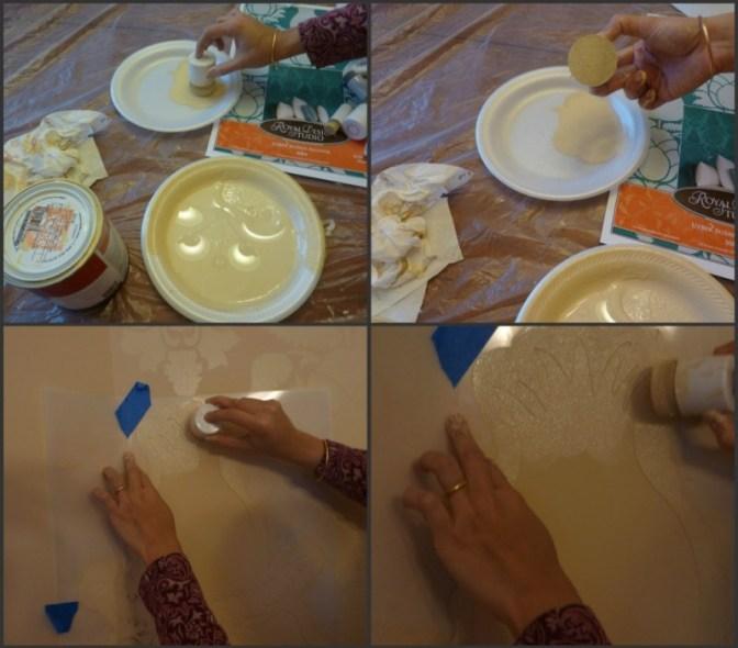 Wall-Stencil, how-stencil-a-wall, Uzbek-Suzani-Stencil, Royal-Design-Studio-Stencil, tone-on-tone-stencil