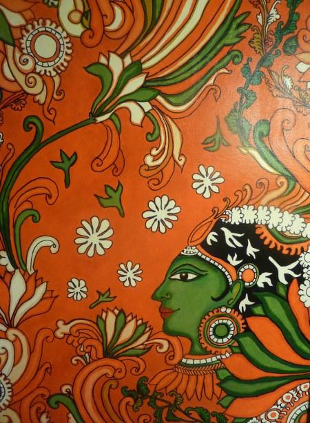 Simple tutorial for creating a Kerala mural painting