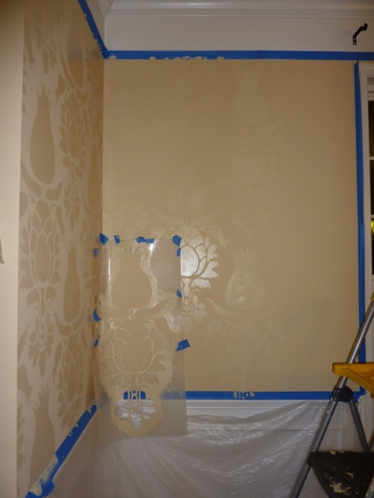 how to stencil a wall, How to Paint a Room with Stencils