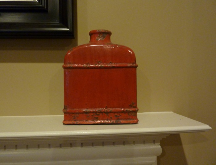 red vase from Hoem Goods, best home decor stores