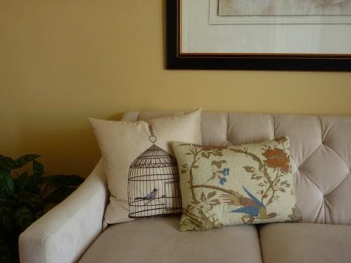 bird pillows, bird decor for home