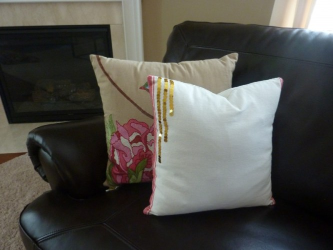 dish towel throw pillow