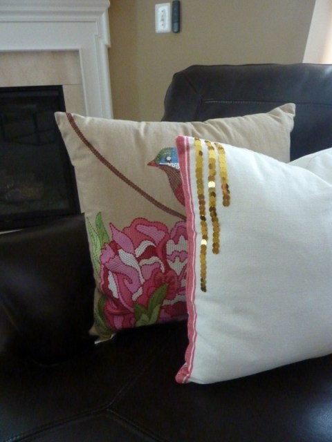 Pottery Barn knock off pillow, Dish Towel Throw Pillows