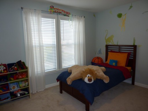 boy's room makeover, monkey wall decals