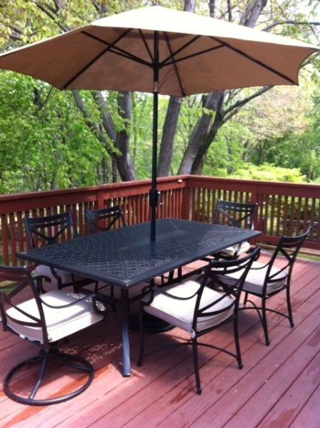 how to set out patio falls